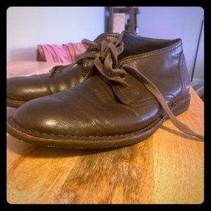 John Varvatos Brown Leather Chukka Shoes/Boots